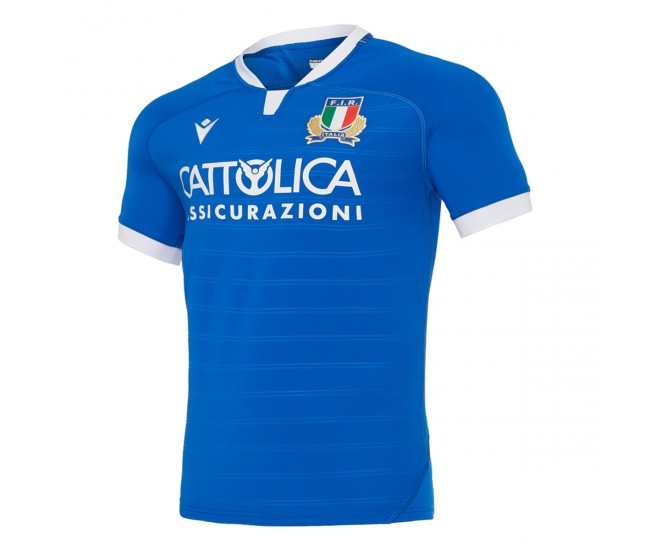 Macron Italy 2021 Poly Home Rugby T-Shirt